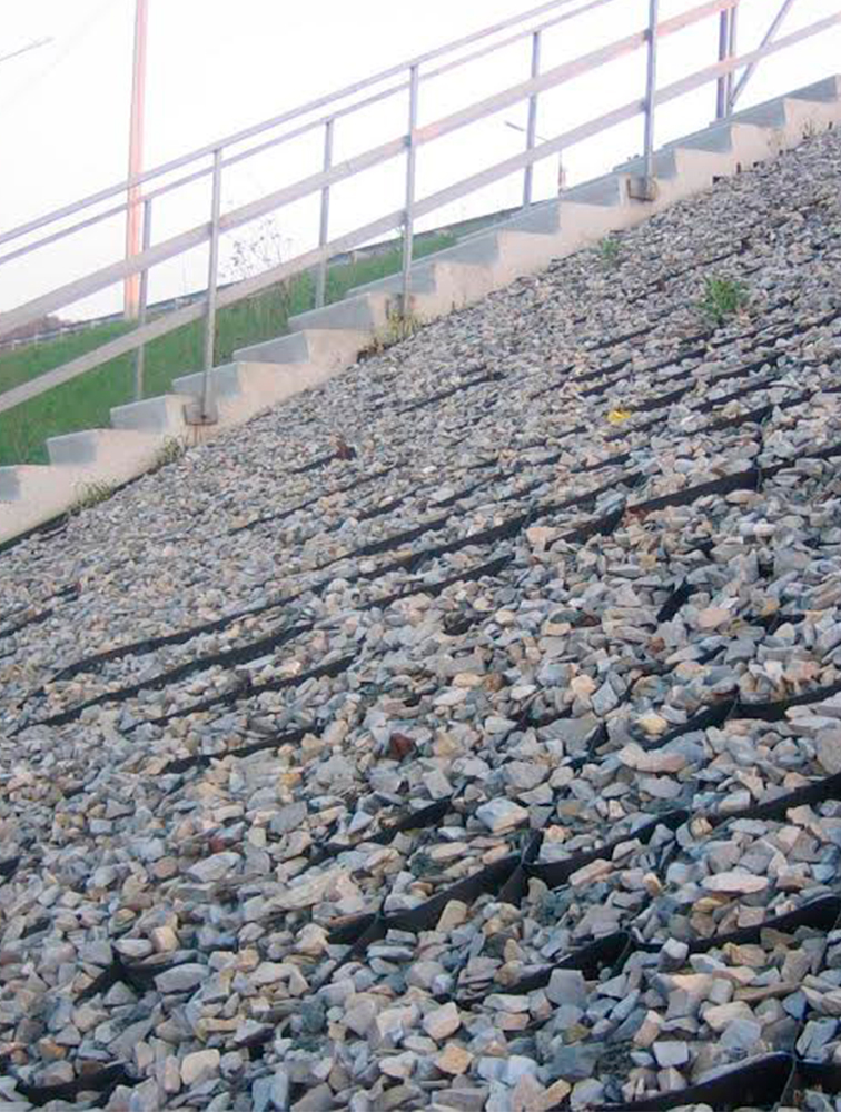 Укріплення конусів мостів та шляхопроводів. image